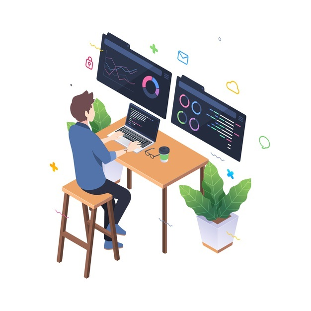 programmer-working-isometric-style_52683-16805